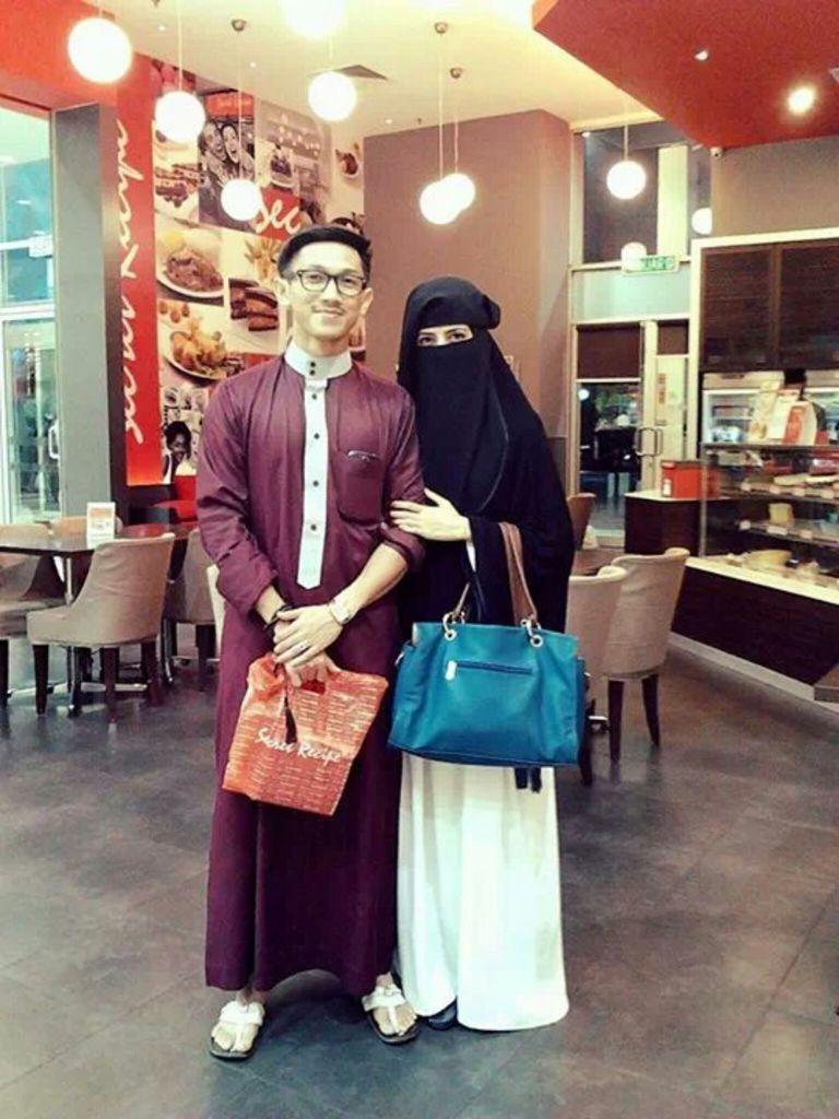Happy  muslim husband and wife