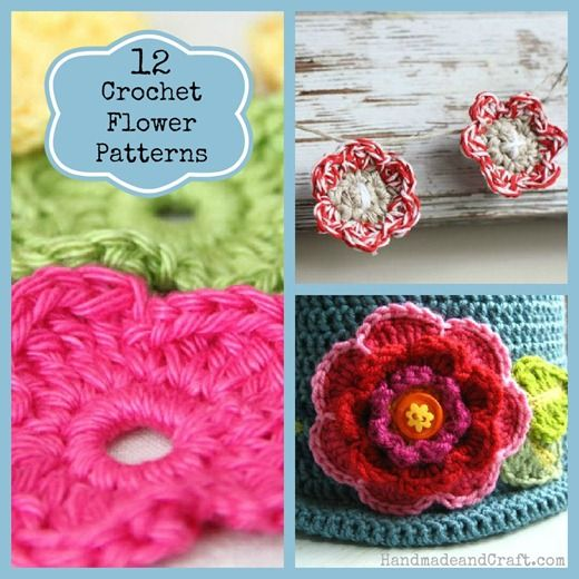 12 Crochet Flower Patternseat For Beginners Too These Are Fun