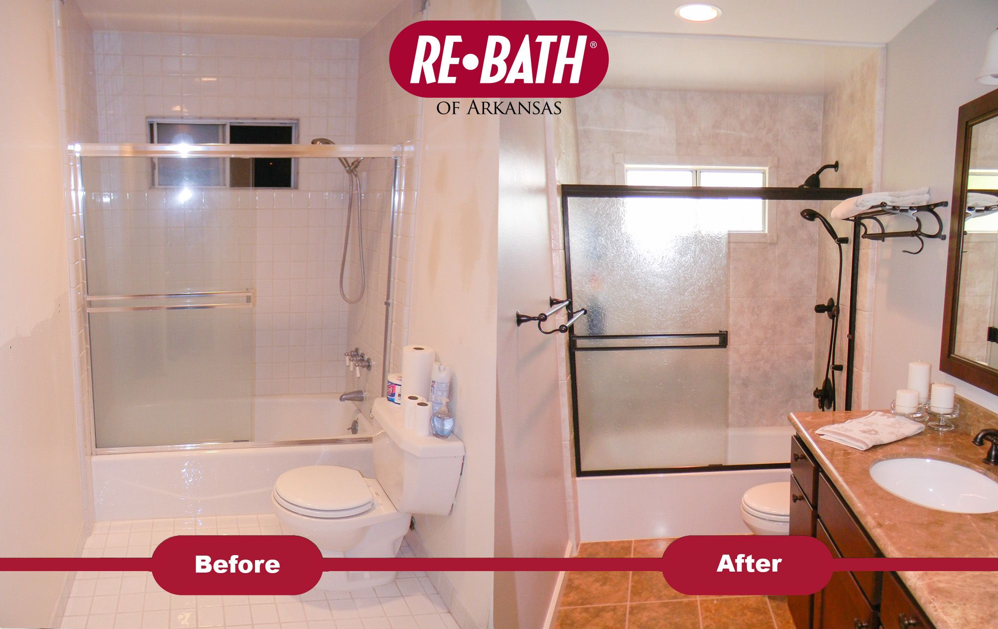 Bathroom Remodel Before And After Rebath With Images Small