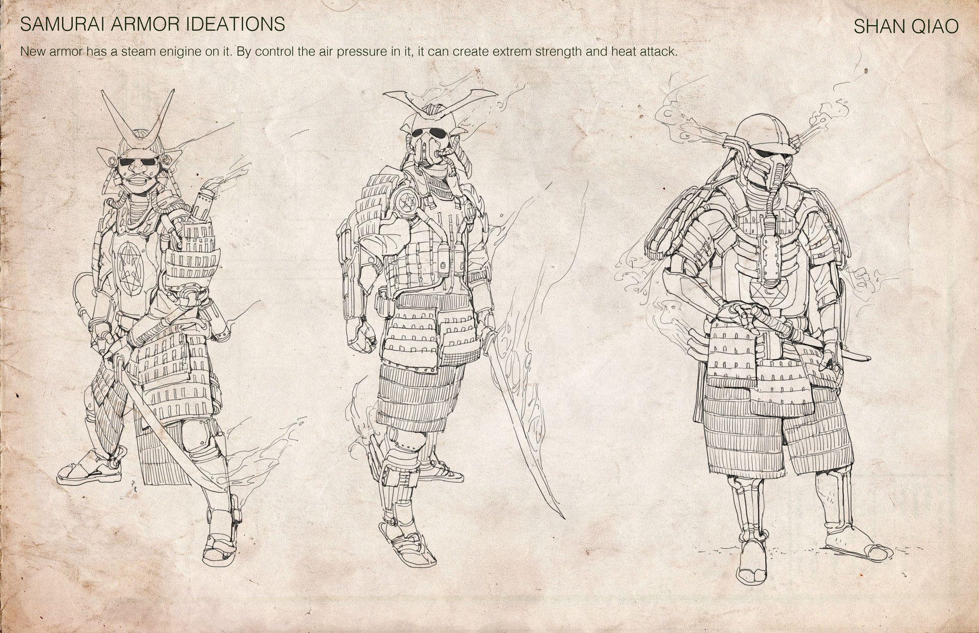 ArtStation - Steampunk samurai mash up! , Shan Qiao