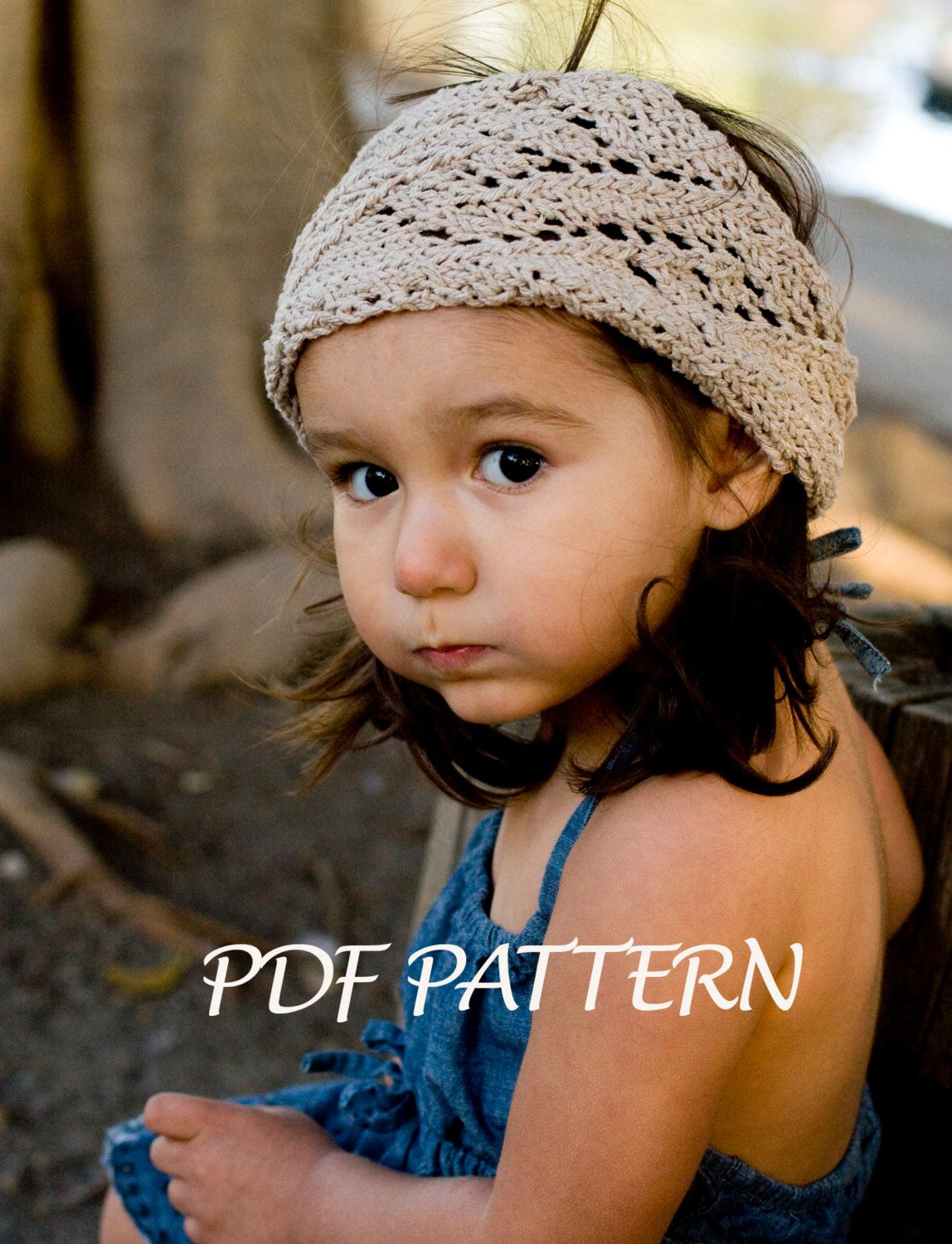 Knitted Pattern - Sophia Lace Knitted Head Warmer - Toddler, Child ...