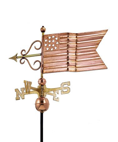 Take A Look At This Copper American Flag Weather Vane By Good Directions On Zulily Today Weather Vanes Weathervanes American Flag