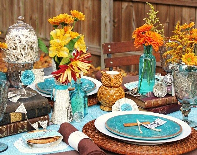 Fall Eclectic Table Setting Ideas Thanksgiving Table Settings Thanksgiving Dinner Table Decorations Thanksgiving Table Settings Rustic