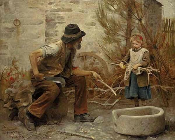 chrestomatheia: Arthur Hacker, A Woodcutter and his Daughter, 1892.