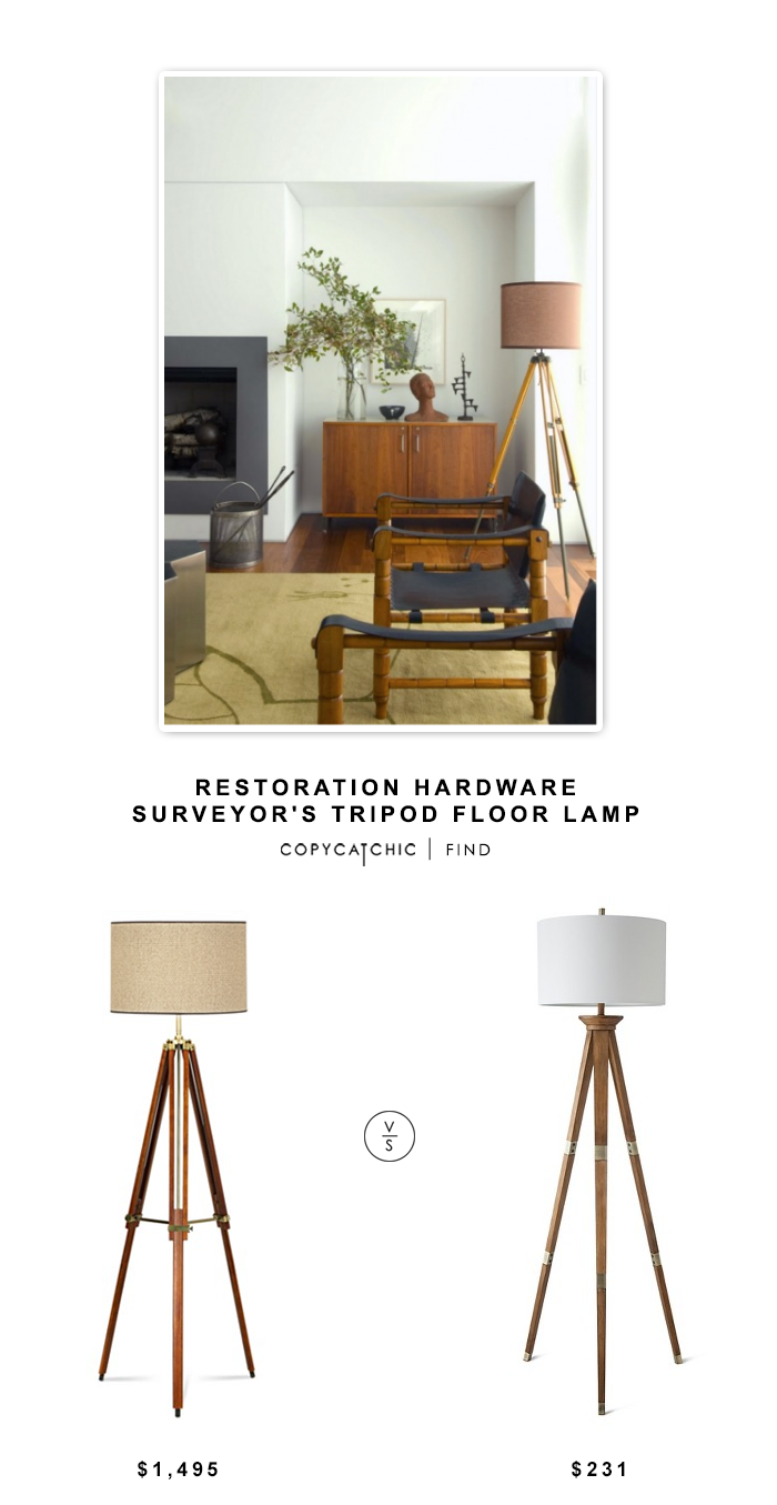 Restoration Hardware Surveyor S Tripod Floor Lamp Floor Lamps