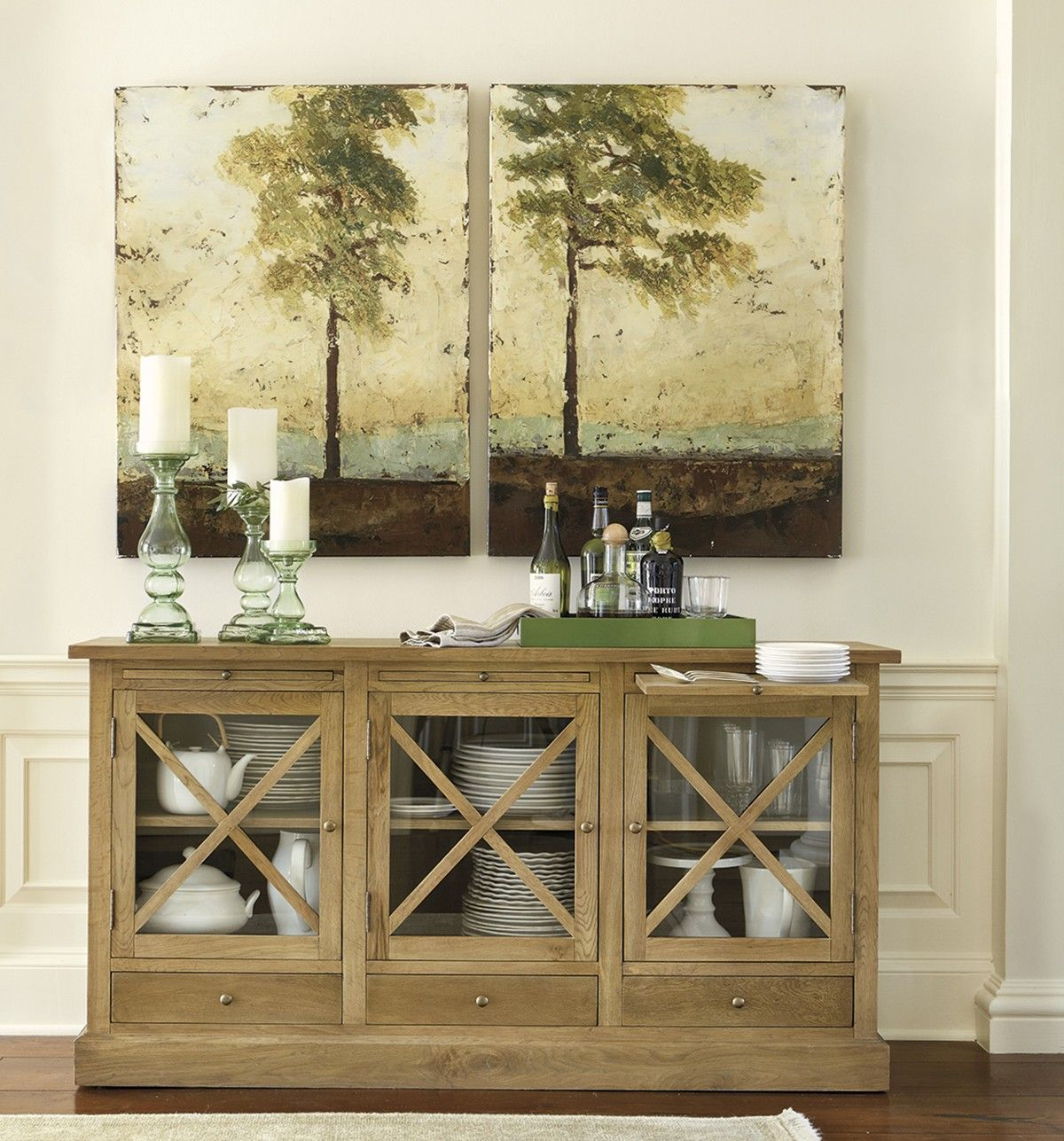 How To Decorate Dining Room Buffet   ... Inspired Dining Room Buffet Fromu2026