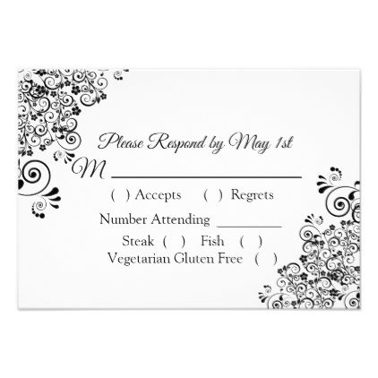 black and white wedding rsvp card wedding invitations pinterest