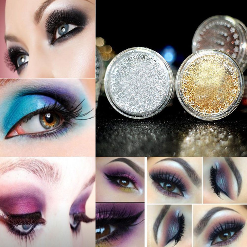 Details about 2X Shiny Makeup Loose Powder Glitter