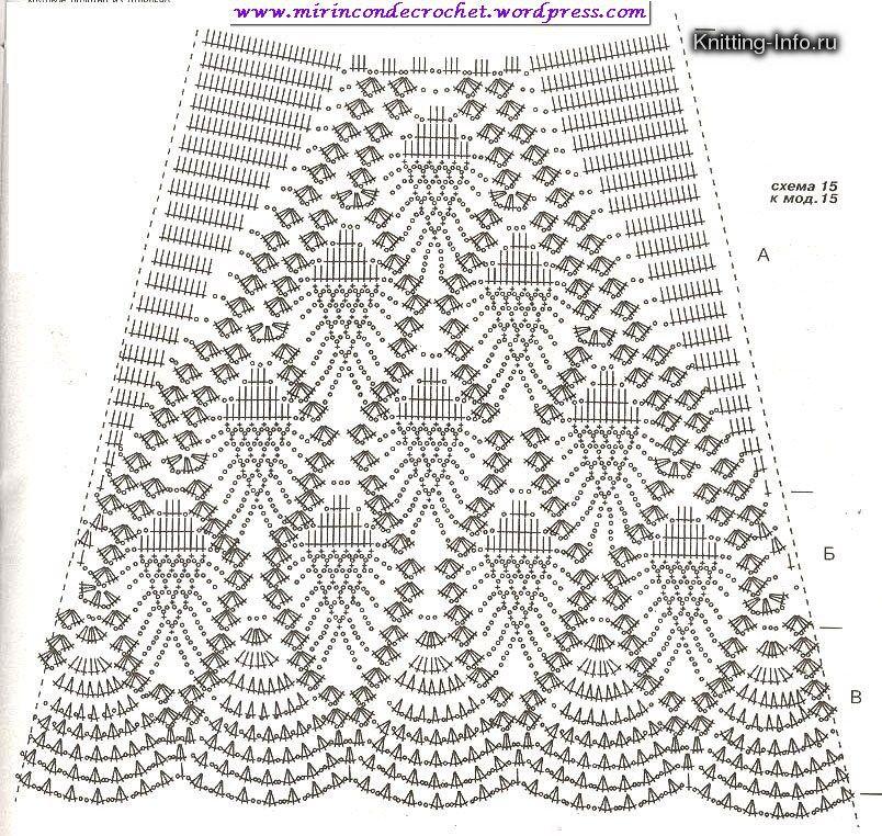 b53f5ac8b Muy bella falda… | Crochet | Faldas en crochet, Falda tejida a ...