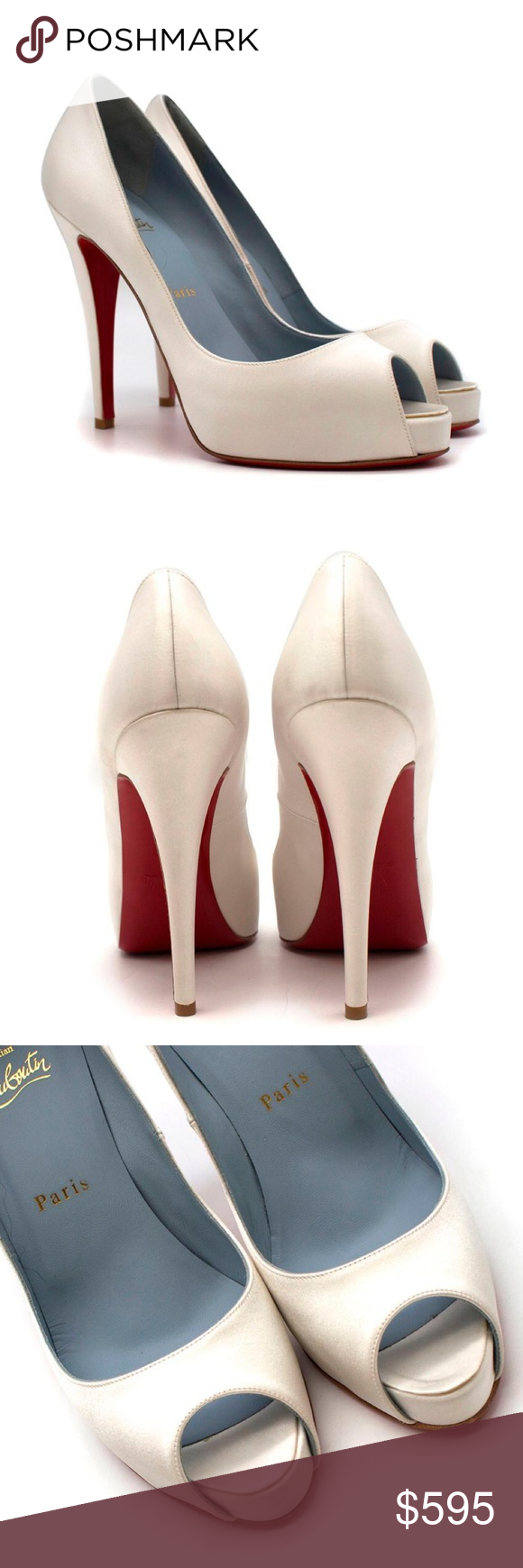 fd504a63cc9 Christian Louboutin Very Prive 120mm off-wht satin Christian Louboutin Very  Prive 120mm off-