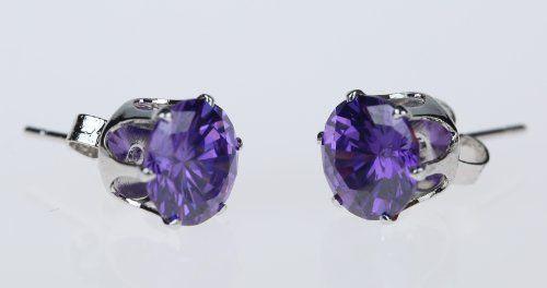 Honeystore Mädchen's Runde Legierung Amethyst Ohrstecker Set Violett - See more at: http://juwel.florentt.com/jewelry/honeystore-mdchen39s-runde-legierung-amethyst-ohrstecker-set-violett-de/