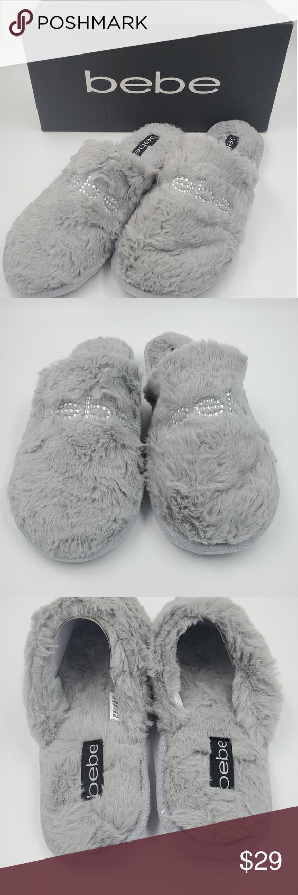 💜Bebe Fur Cozy House Slippers Slip Ons