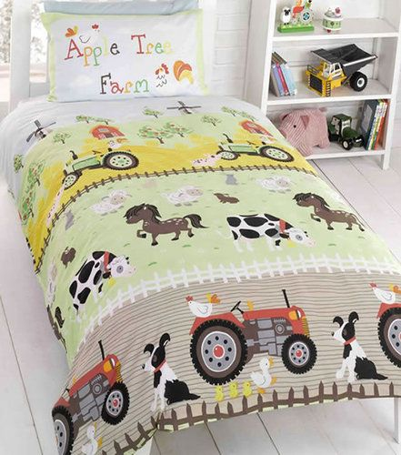 Apple Tree Farm Bedding Toddler And Single Duvets With Pillowcases Cot Bed Duvet Cover Kids Bedding Sets Duvet Cover Sets