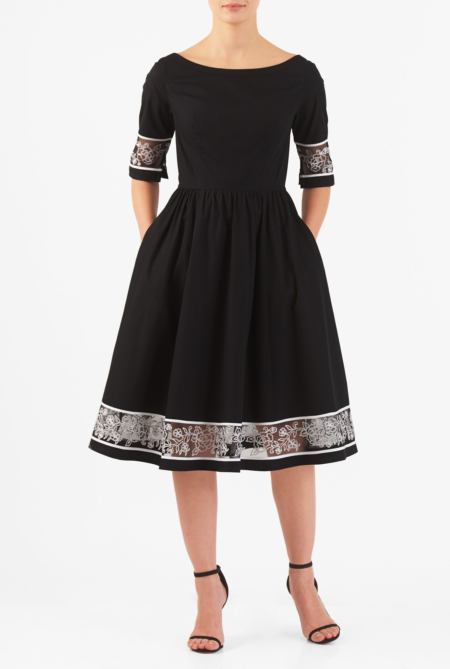 Women's Fashion Clothing 20 20W and Custom   Poplin dress, Cotton ...