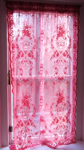 beautiful sheer pink curtain....don't care for the color pink, but this is pretty and there's nothing like the sun shining through something such as this!
