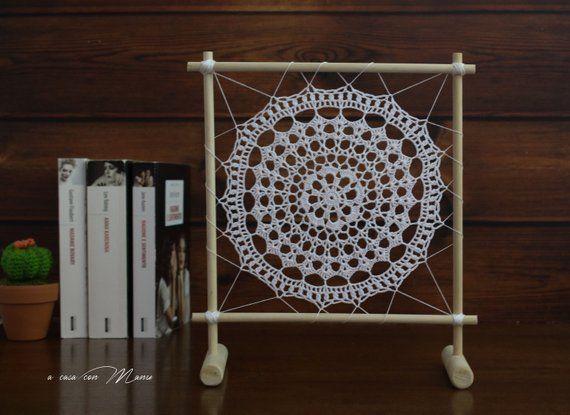 Decorare Mensole Legno : Soprammobile in legno boho mandala decorazione mobile in legno