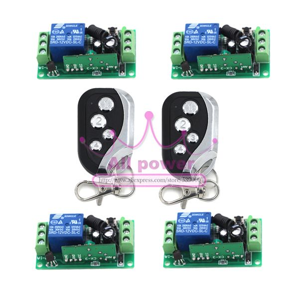12v 1ch Rf Wireless Control Receiver Momentary Switch Relay 2pcs Remote Control 315mhz Repl Garage Door Replacement Garage Door Opener Remote Control