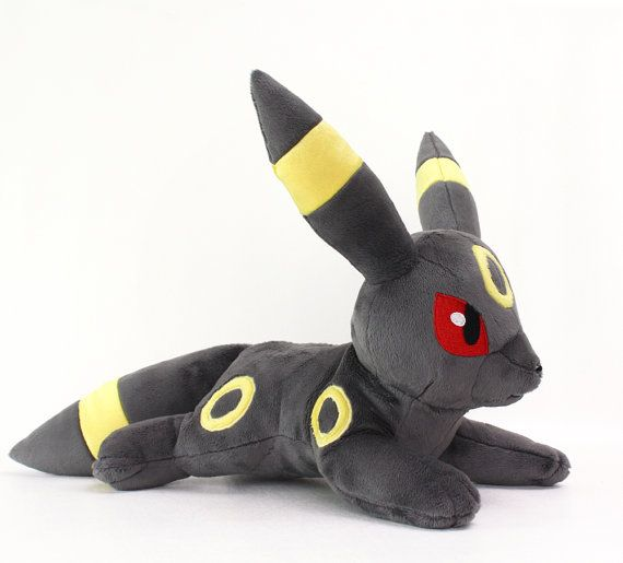 PDF sewing pattern - Umbreon laying kawaii animal plush - easy ...