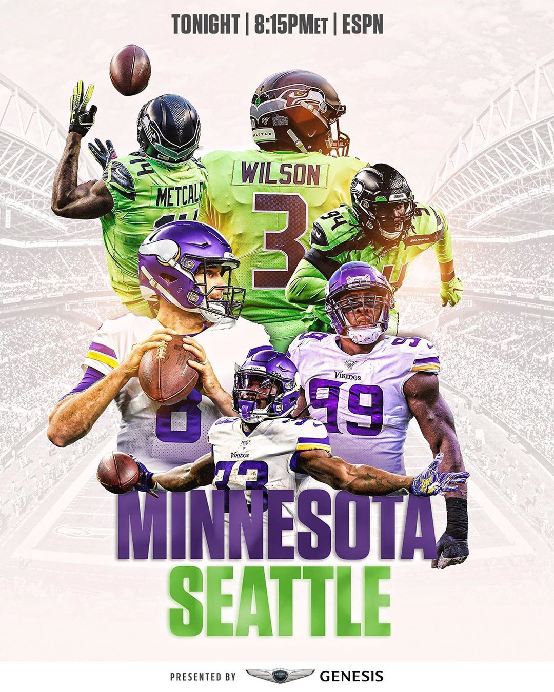 Nfl On Instagram Vikings Seahawks The 12 S And Big Playoff Implications Your Monday Just Got A Whole Lot Better Minvsse With Images Nfl Vikings