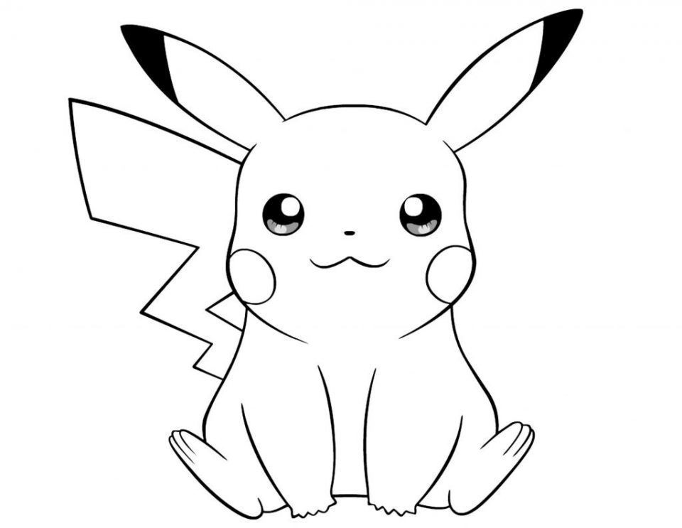 Pikachu Para Colorear With Images Pikachu Coloring Page