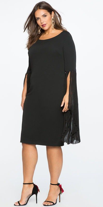 a2688284517a 33 Plus Size Wedding Guest Dresses  with Sleeves  - Plus Size Cocktail  Dresses - alexawebb.com