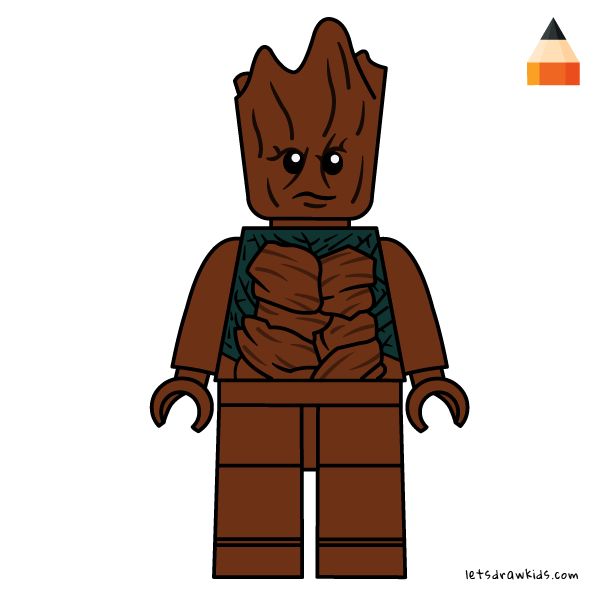Guardians Of The Galaxy Lego Drawing Lego Minifigures Drawing Guardians Of The Galaxy Groot Lego Cartoon Drawings Drawings