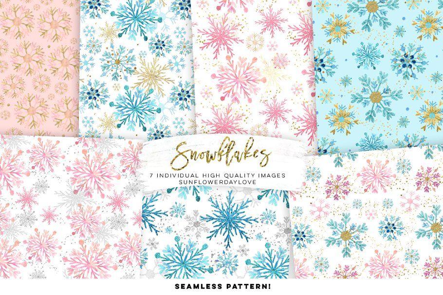 Snowflakes Digital Paper , #SPONSORED, #prints#Logos#Packaging#perfect #AD #floconsdeneigeenpapier
