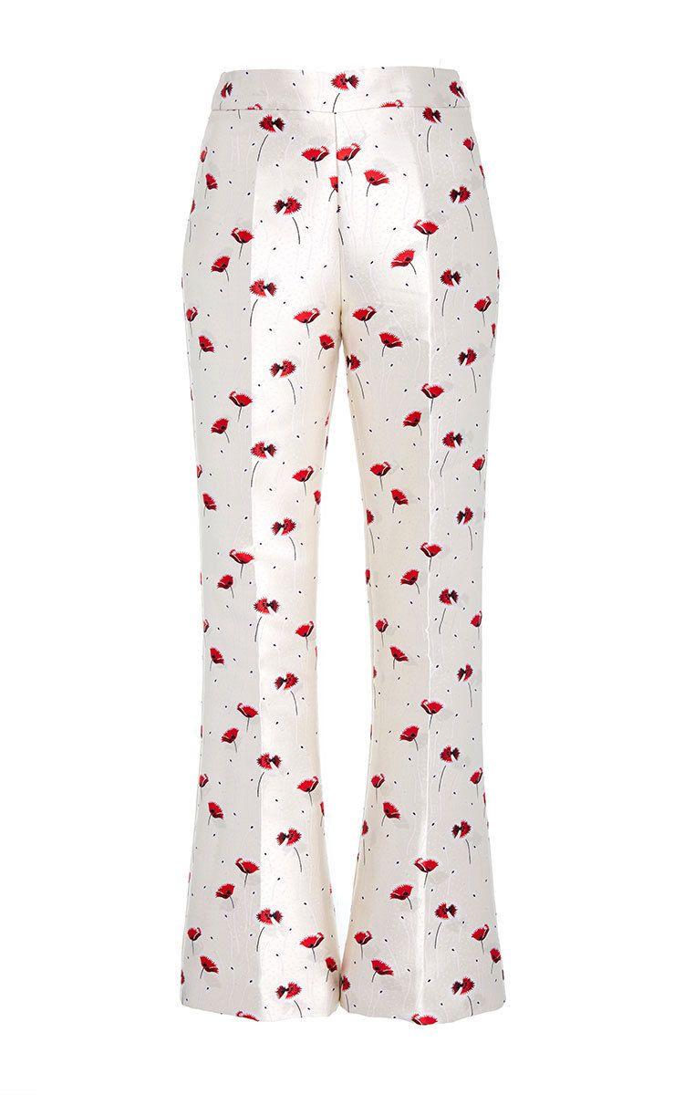 Cropped Jacquard Printed Trousers by GIAMBATTISTA VALLI for Preorder on Moda Operandi