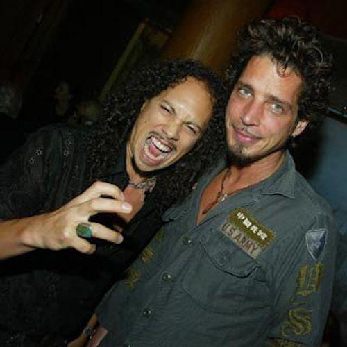 Kirk Hammet and Chris Cornell