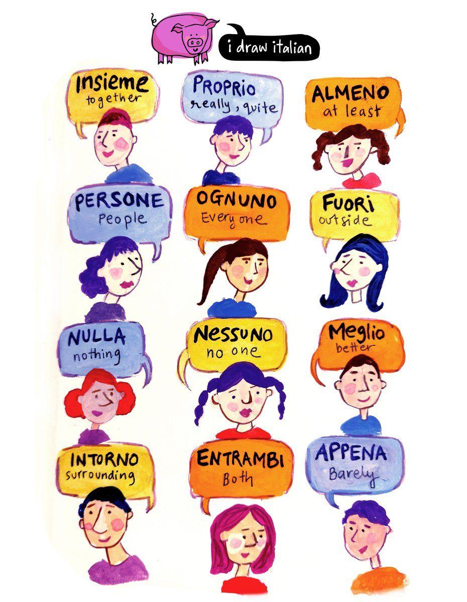 I Draw Italian On Twitter Italian Language Learning Learning Italian Italian Language