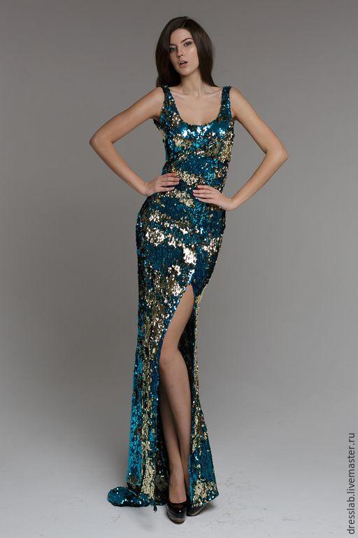 08471e27816 Купить Платье из пайеток двух цветов - разноцветный