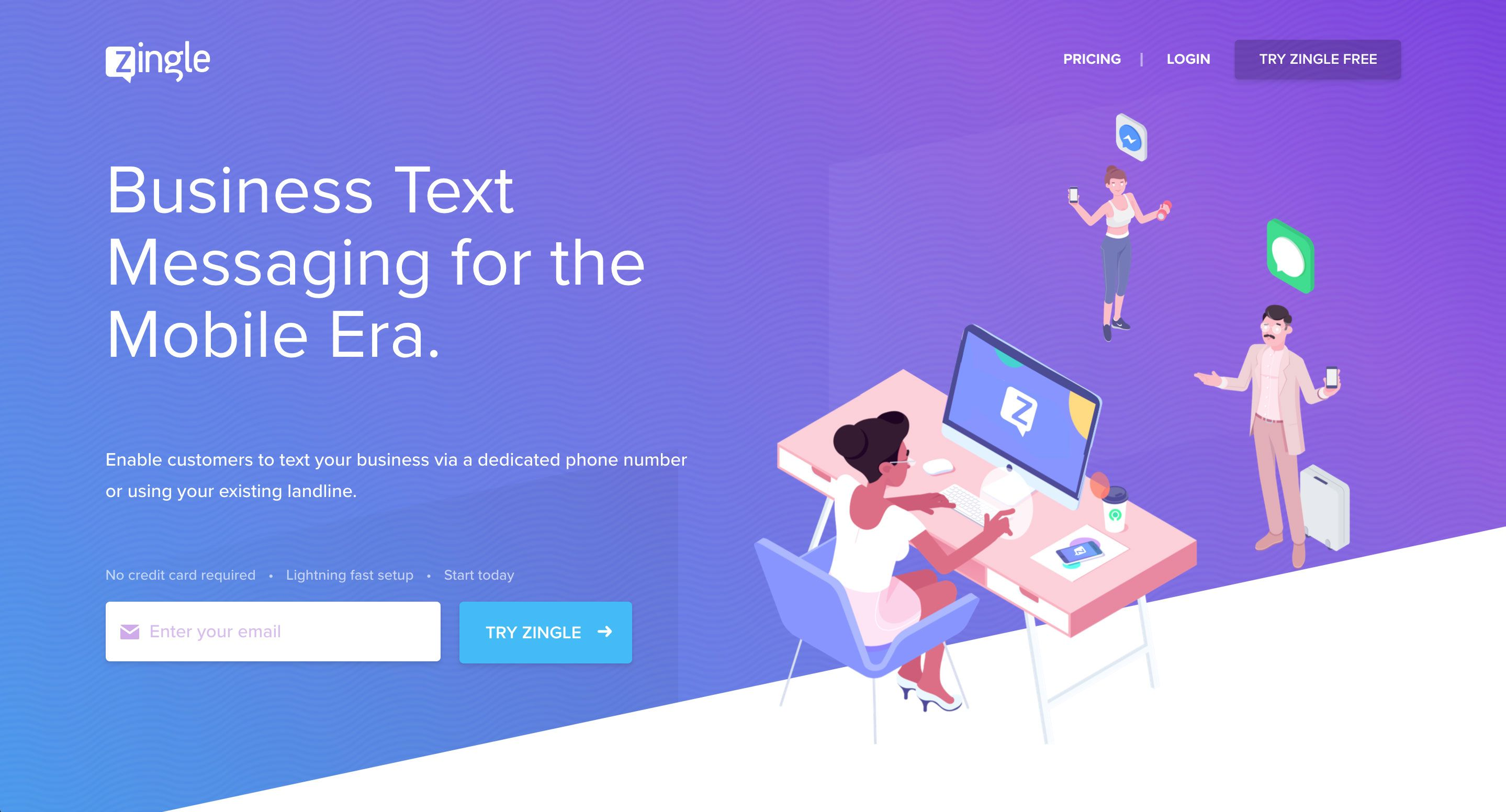 Zingle provides realtime business text sms messaging