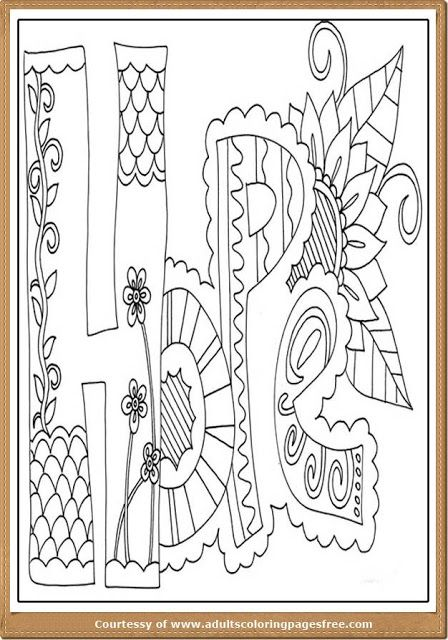 There Is Always A Hope Coloring Pages Flowers Coloring Pages For