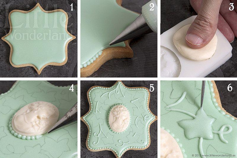 Galletas Con Camafeo Cameo Cookies Tutoriales De Galletas Receta De Galletas Para Decorar Galletas