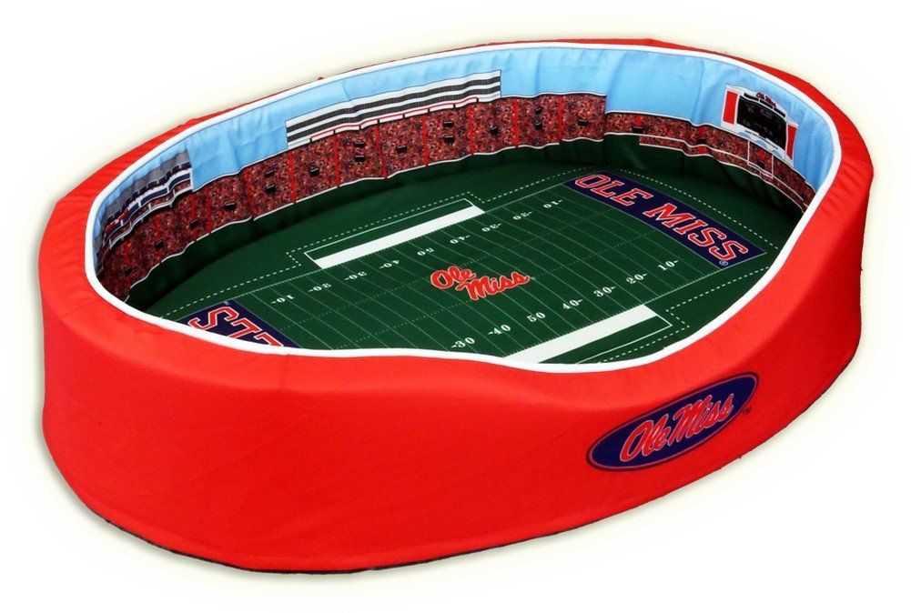 Ole Mississippi Rebels Pet Bed Vaught Hemmingway Stadium Replica Small Ole Miss Ole Miss Rebels Ole Miss Football