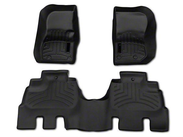 Weathertech wrangler black fitted front and rear floor liner kit 44573-1-2 (14-16 Wrangler JK 4 Door) - Free Shipping