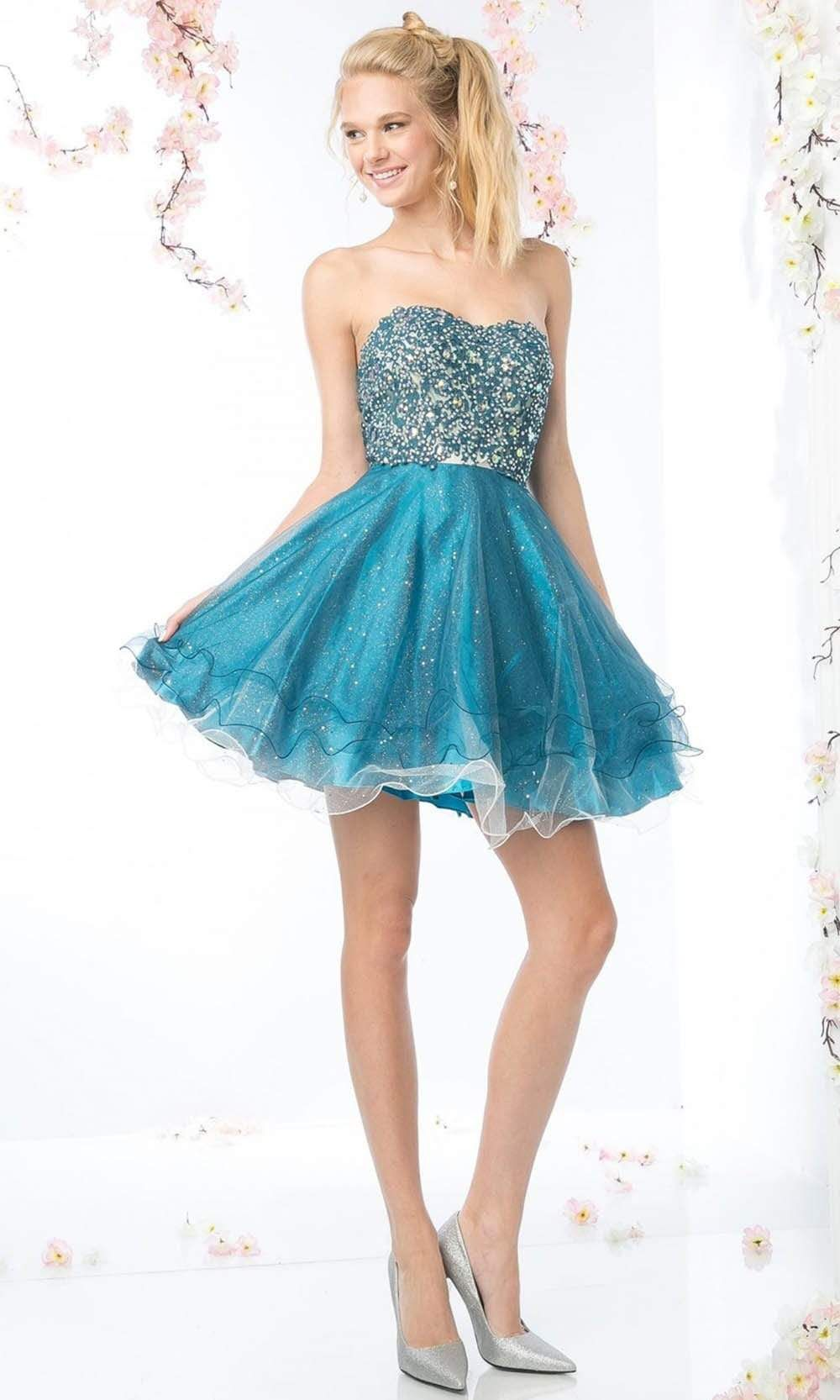 Cinderella Divine 7633 Embroidered Sweetheart A Line Dress Satin Homecoming Dress Homecoming Dresses Short Homecoming Dresses [ 1666 x 1000 Pixel ]
