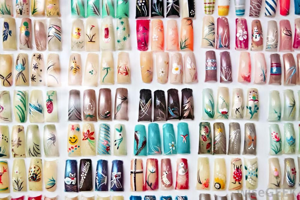 Assortment Of Artificial Fingernails Nail Art Supplies Nail Art