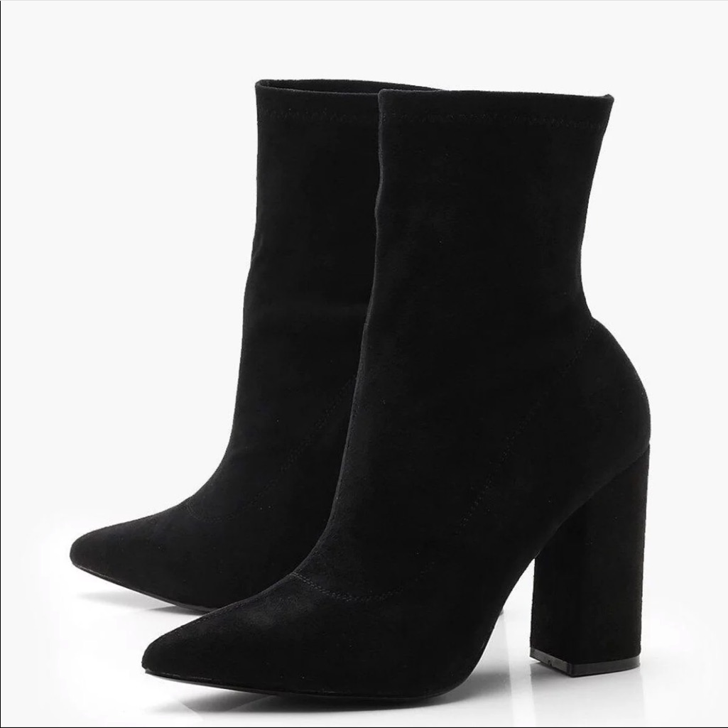 Boohoo Shoes   Sock Boots   Color