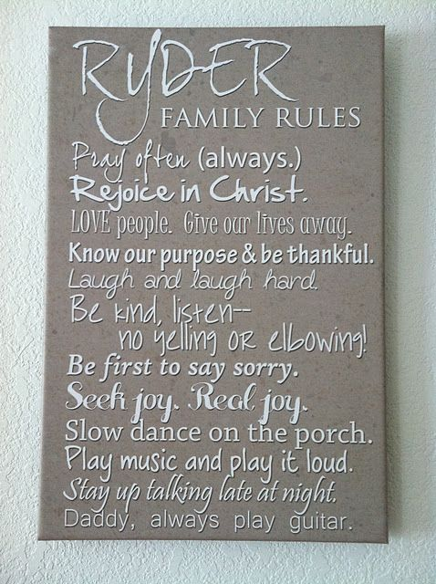 Family rules. So cool!