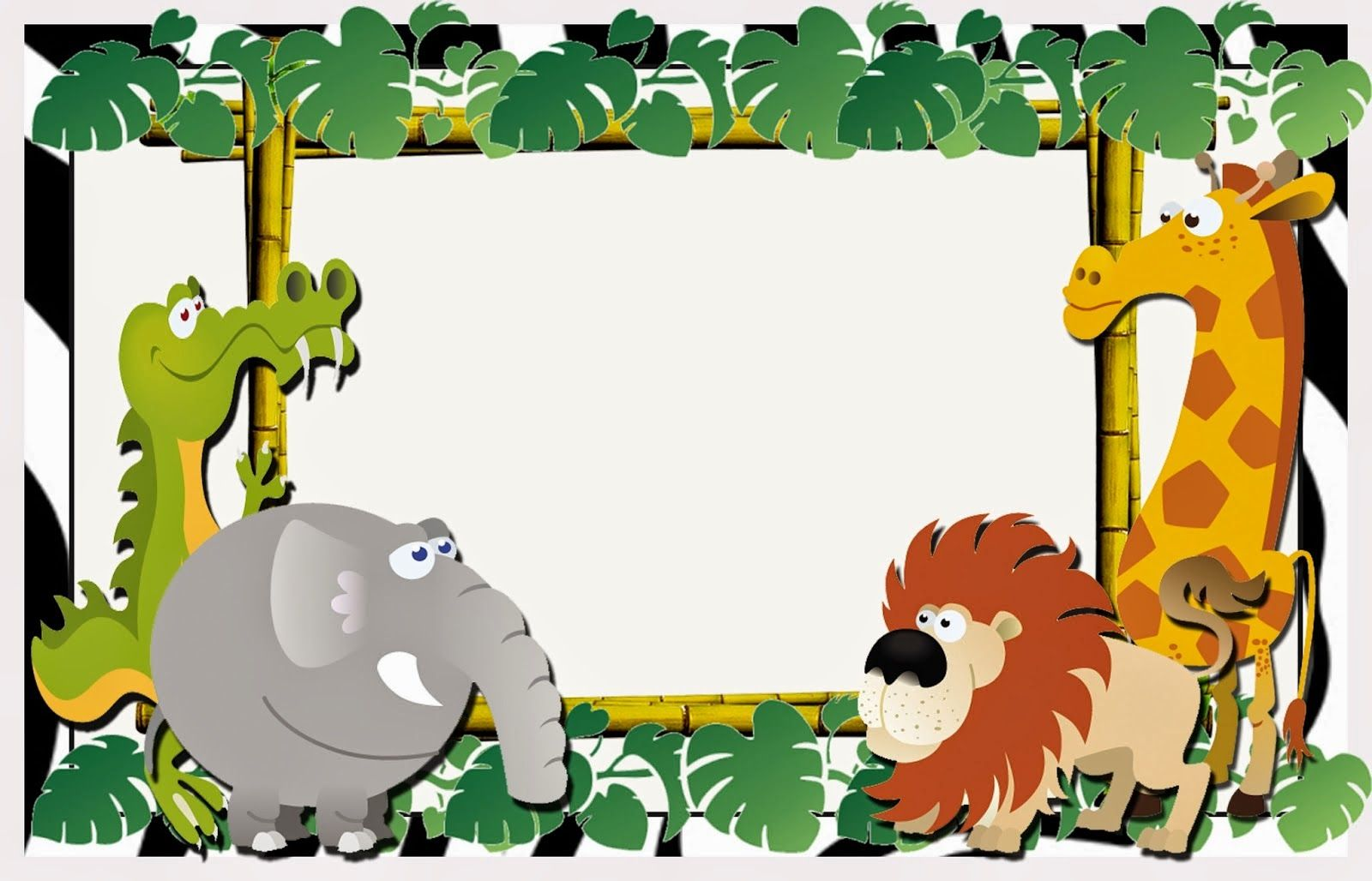 Cute The Jungle Free Printable Invitations Labels Or