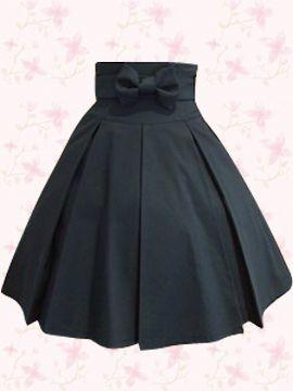 fdbe4d2d2 Falda de tablones con lazo | faldas en 2019 | Faldas, Vestidos y ...