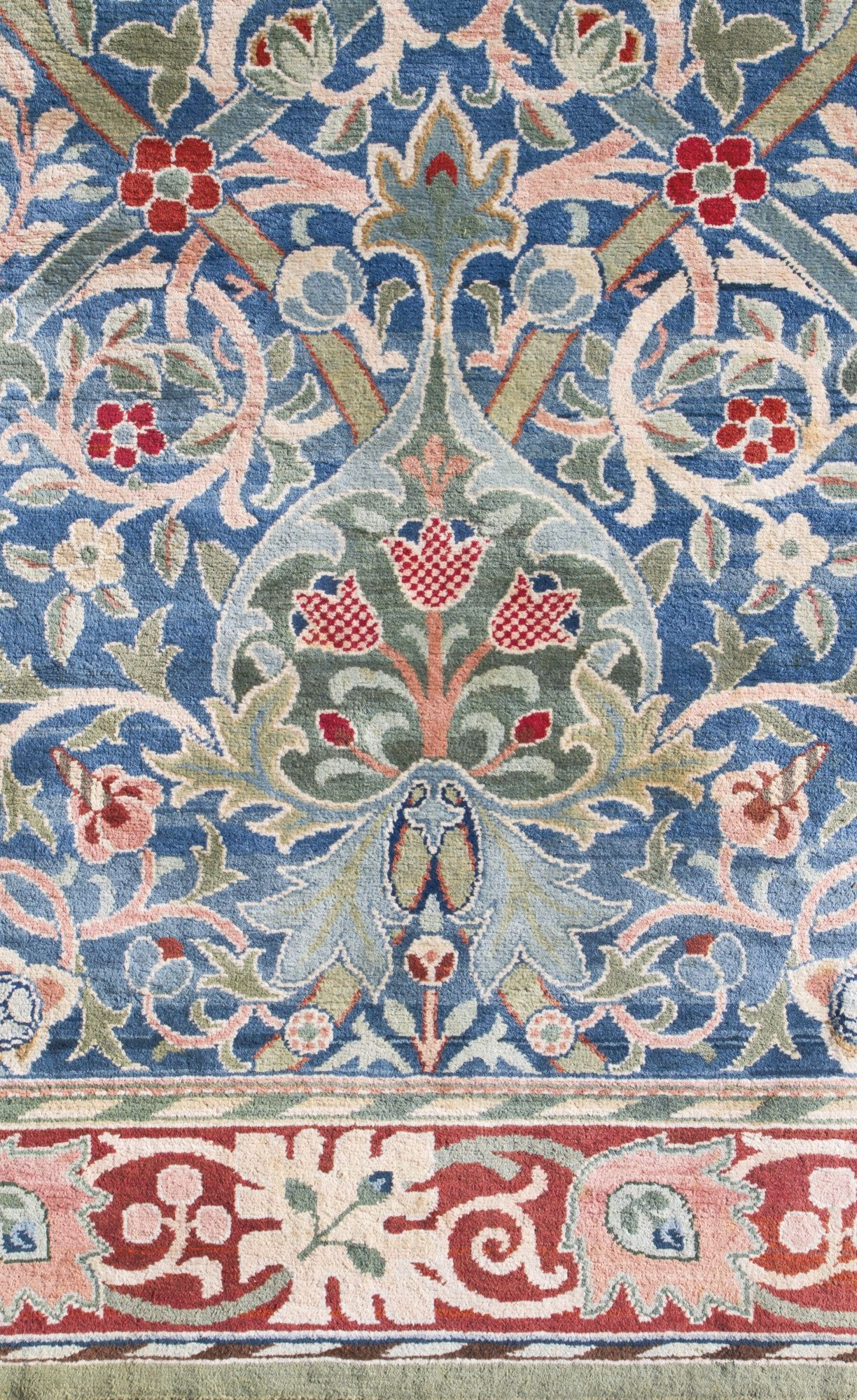 A William Morris 'Hammersmith' Carpet, hand knotted for