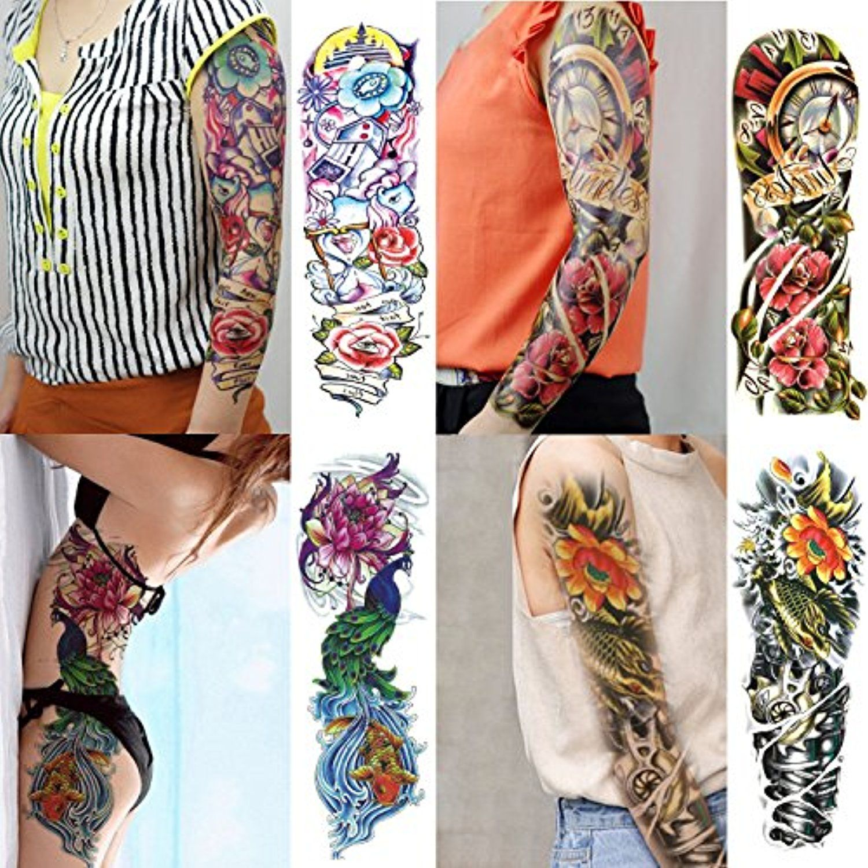 070FC 4Sheet Large Temporary Tattoo Waterproof Full Arm
