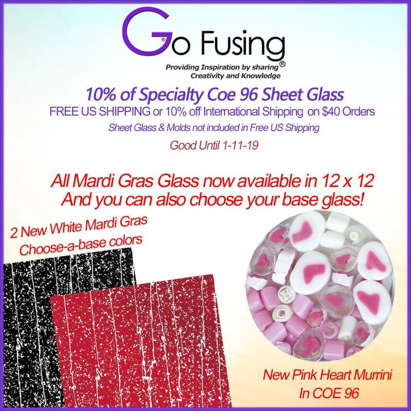 Starting 1 1 20 This Will Be The Year Of Art Glass All Mardi Gras Coe 96 Is Available In 12 X 12 Inch And Multiple Choices For The Base In 2020 Mardi Gras Gras Glass