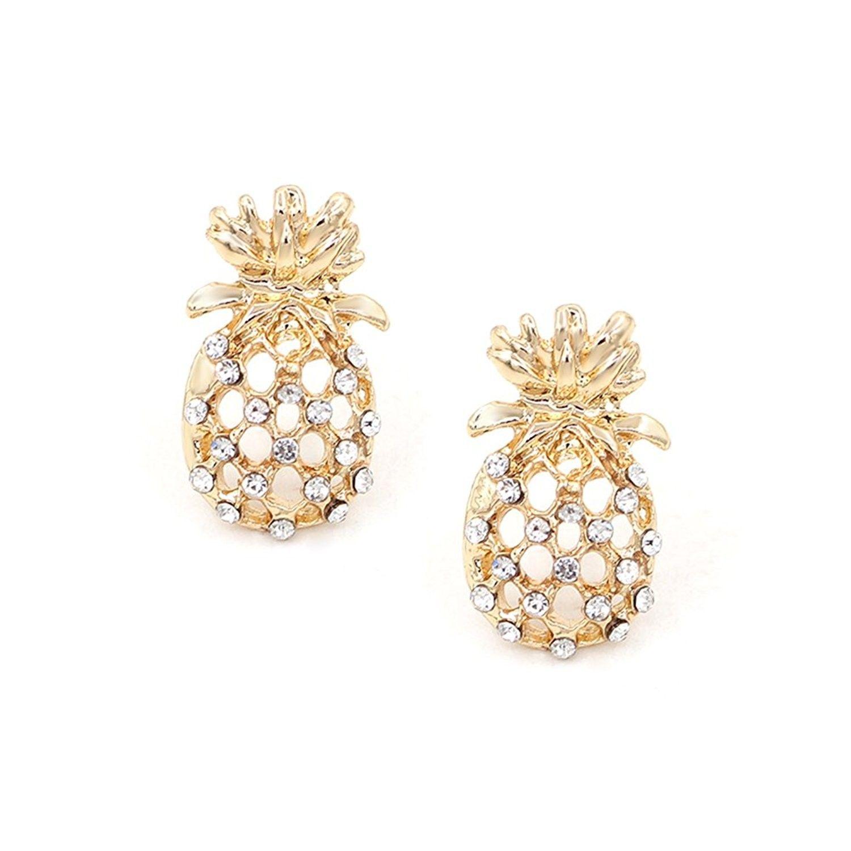 Pineapple Stud Earrings Stainless Steel