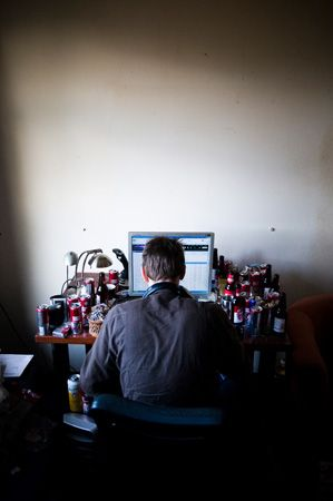 "Finnish journalistic photo awards: ""Rick doesn't go to work or school. He doesn't really leave  his room. He sits besides his computer, blows 7 joints a day, drinks energy drink and studies conspiracy theories."""