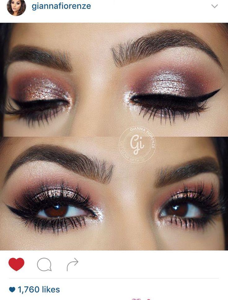 Pink eye makeup for brown eyes. Pink eye makeup, Prom