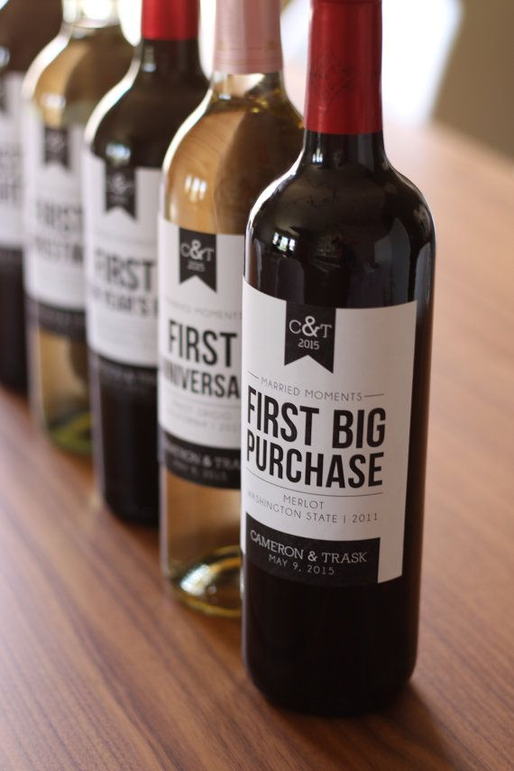 6 Custom Wine Labels for First Married