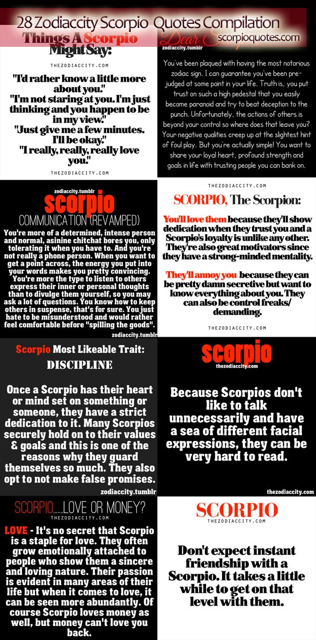 scorpioquotes com 28 Zodiac City Scorpio Quotes Compilation